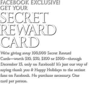 Victoria Secret Reward Card
