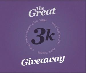 3k giveaway
