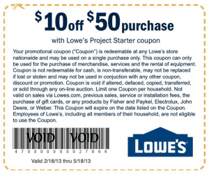 Lowe's Coupons Top Brands & Savings · + Coupons Available · New Offers Added Daily.