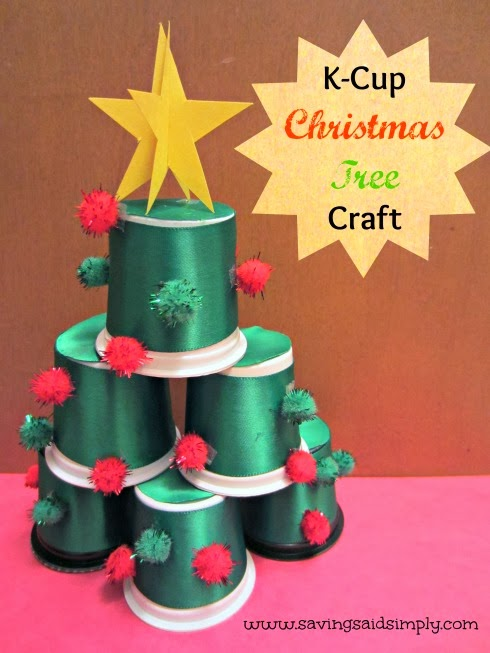 Diy k cup christmas tree craft raising whasians