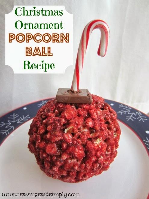 Christmas Ornament Popcorn Ball Recipe - Raising Whasians
