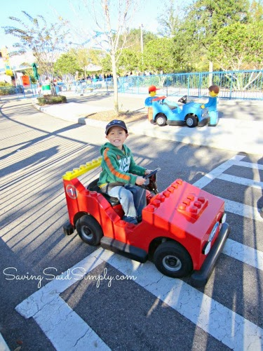 so this was by far my sons favorite area of legoland florida having never driven his own vehicle before outside of