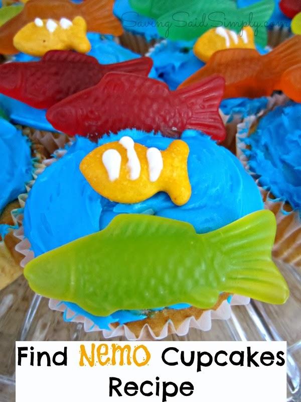Find Nemo Cupcakes Recipe