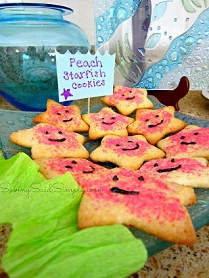 Peach Starfish Cookies
