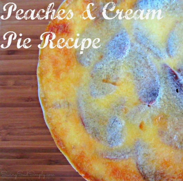 Peaches & Cream Pie Recipe For Thanksgiving Dessert