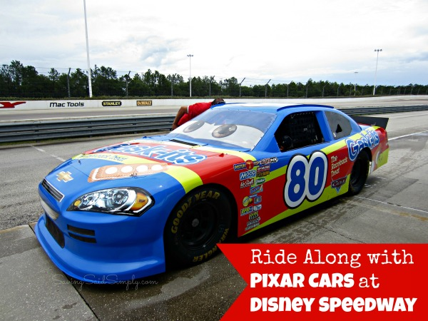 Richard Petty Ride Along with Pixar Cars at Disney ...