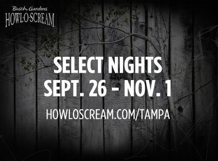 Busch gardens tampa howl o scream tickets deal raising whasians for Busch gardens tampa howl o scream