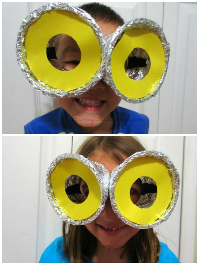 DIY Despicable Me Minion Goggles Kids Craft - Raising Whasians