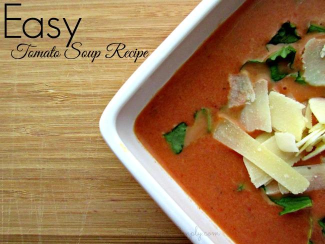 Easy Tomato Soup Recipe - Raising Whasians