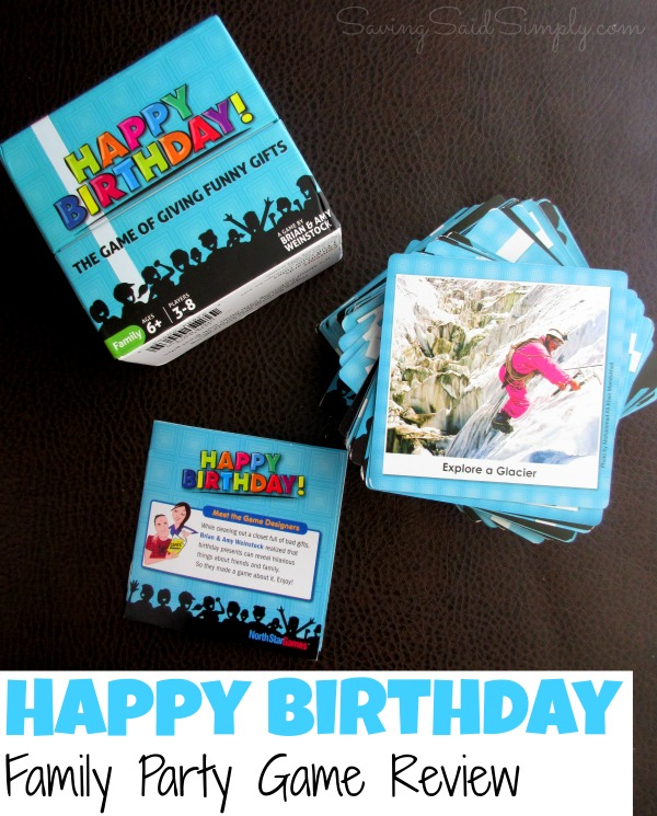 Happy Birthday Family Party Game Review + Giveaway