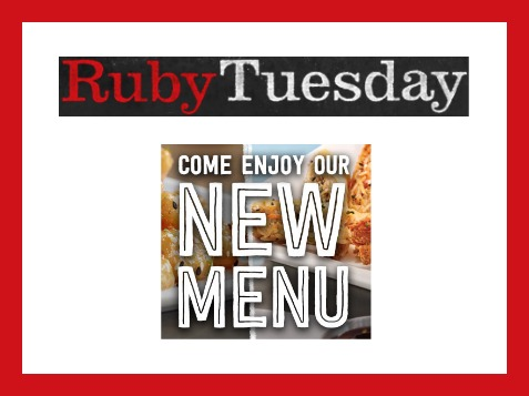 photograph about Ruby Tuesday Printable Menu titled Ruby Tuesday Clean Menu - Growing Whasians