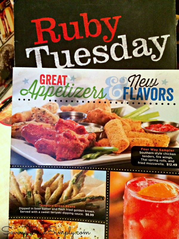 photograph about Ruby Tuesday Printable Menu titled Ruby Tuesday Fresh new Menu - Increasing Whasians