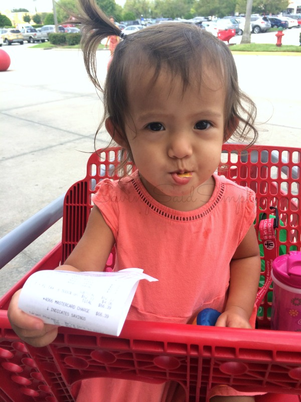 Toddler shopping Target