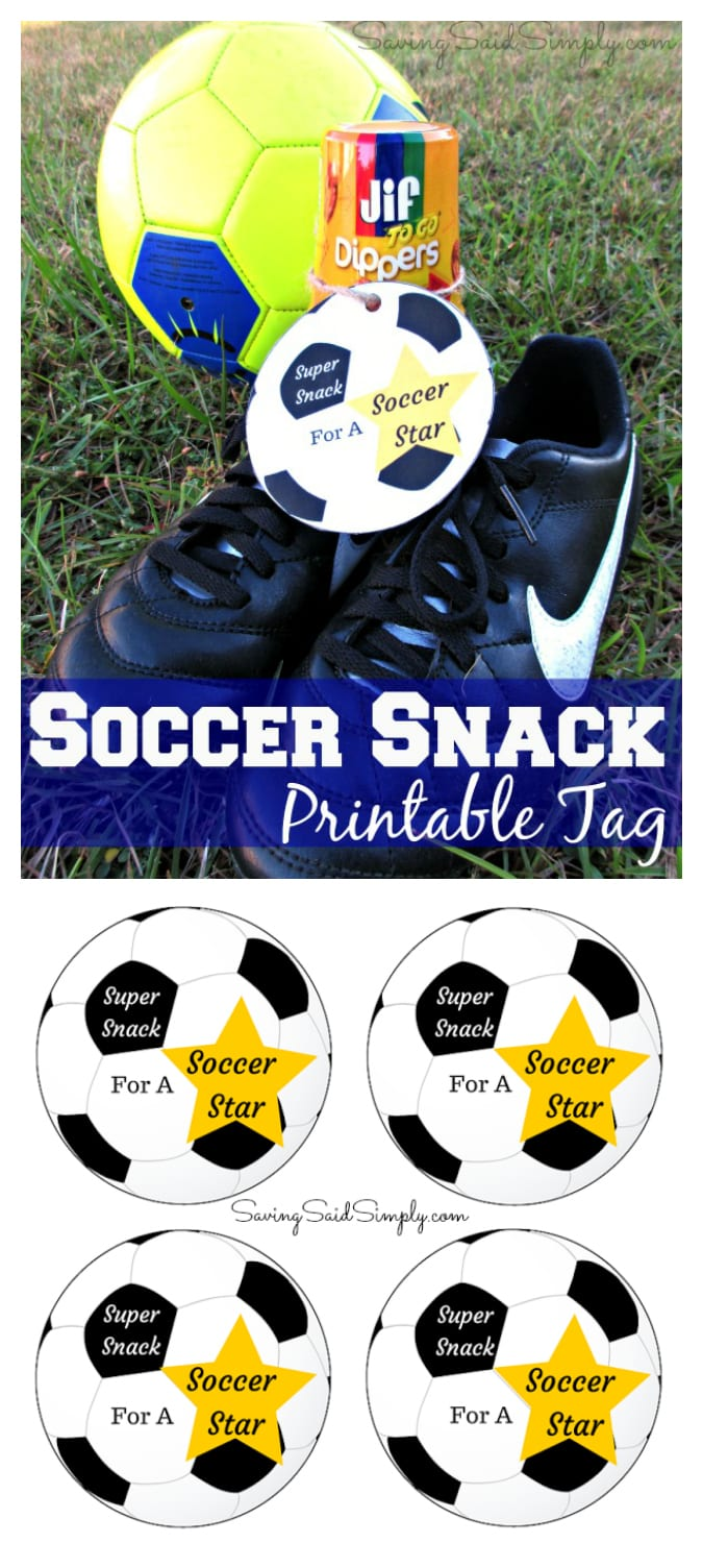 Soccer snack label printable