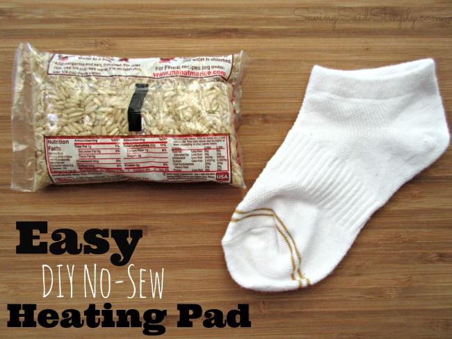 DIY no sew heating pad