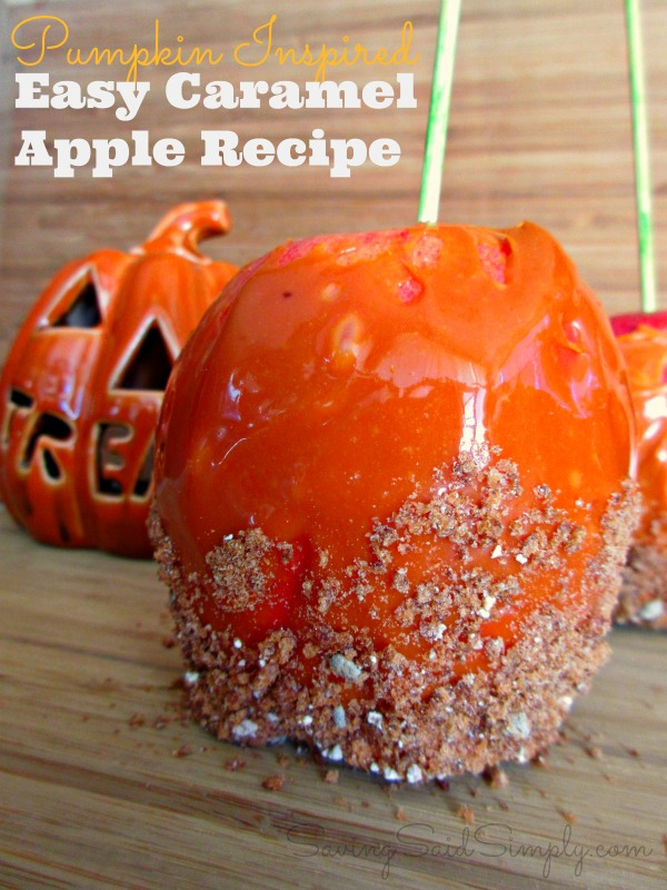 Easy caramel apple recipe pumpkin inspired for Caramel apple recipes for halloween