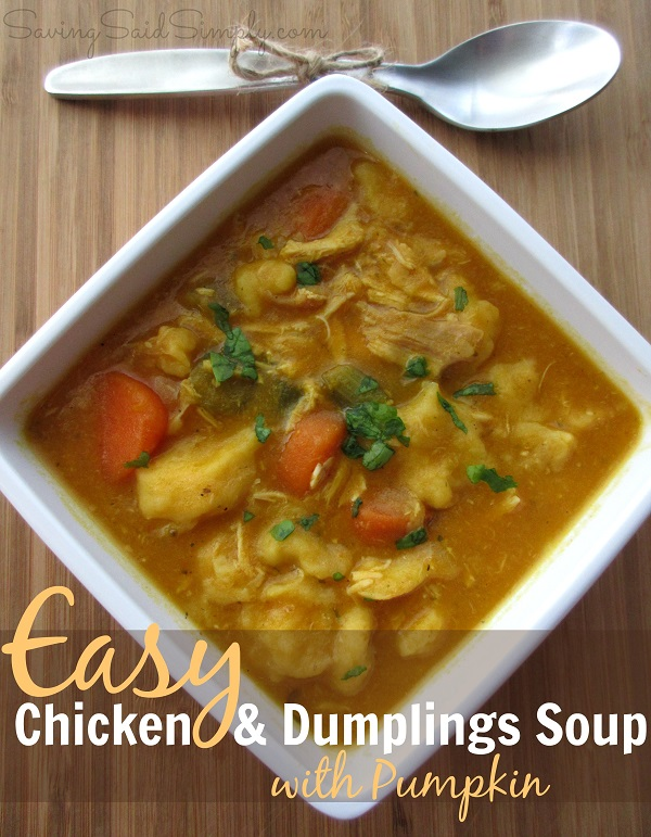 Easy Chicken & Dumplings Soup with Pumpkin Recipe
