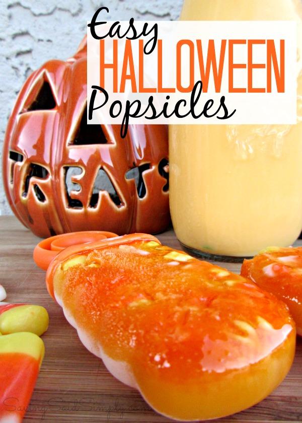 Easy Halloween popsicles