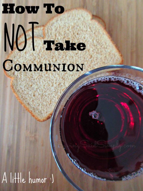 How to not take communion