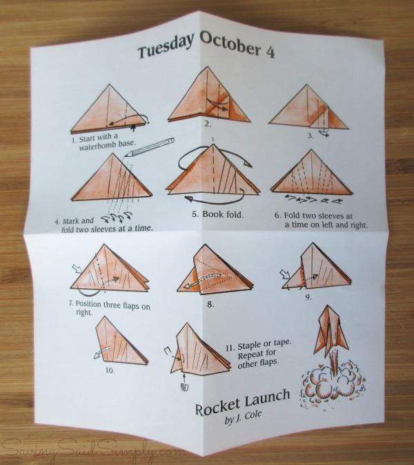 Origami folding steps
