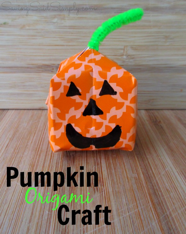 Pumpkin origami craft