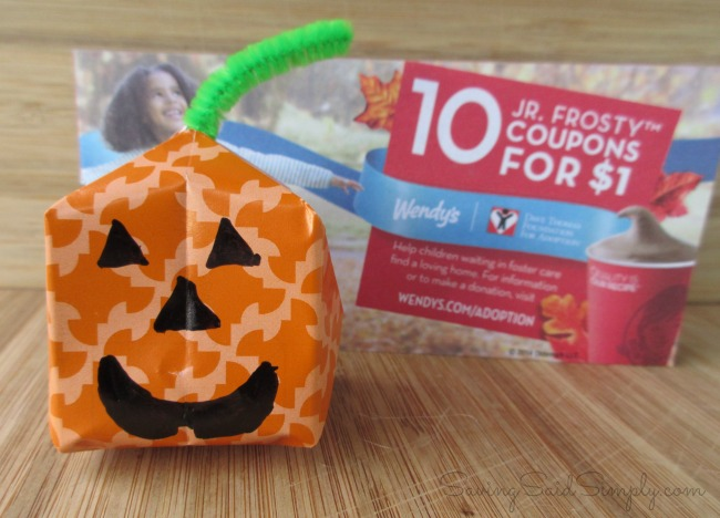 Pumpkin craft wendys
