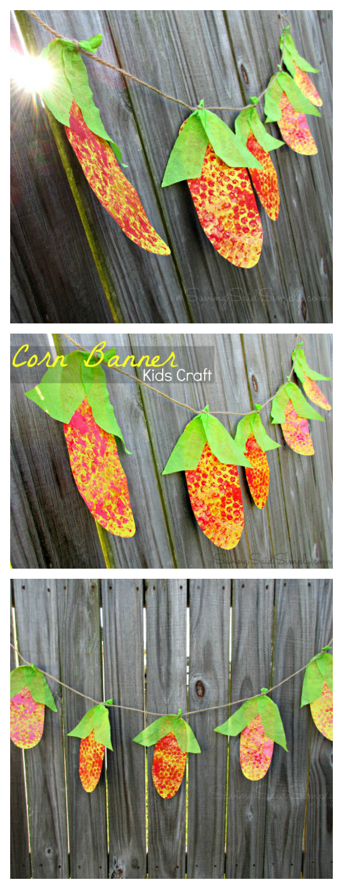 Corn garland craft pinterest