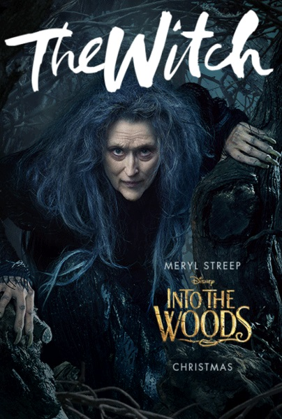 Into the woods movie poster witch