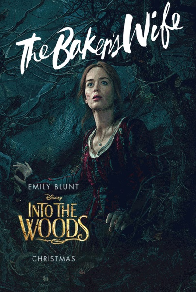 Into the woods movie poster bakers wife
