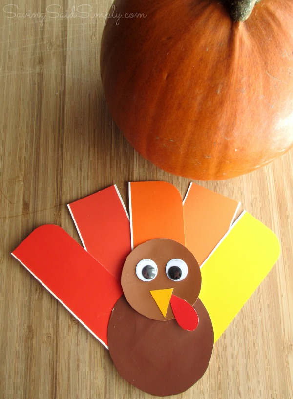 easy thanksgiving craft ideas kids easy thanksgiving craft paint chip turkey 6527