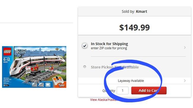 Kmart layaway options