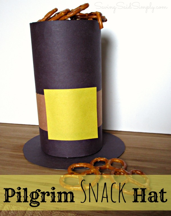 Pilgrim snack hat craft