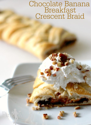 Chocolate Banance Breakfast Crescent Braid