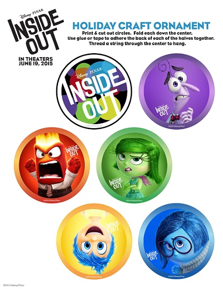 Free Disney Pixar Inside Out Holiday Printables #InsideOut