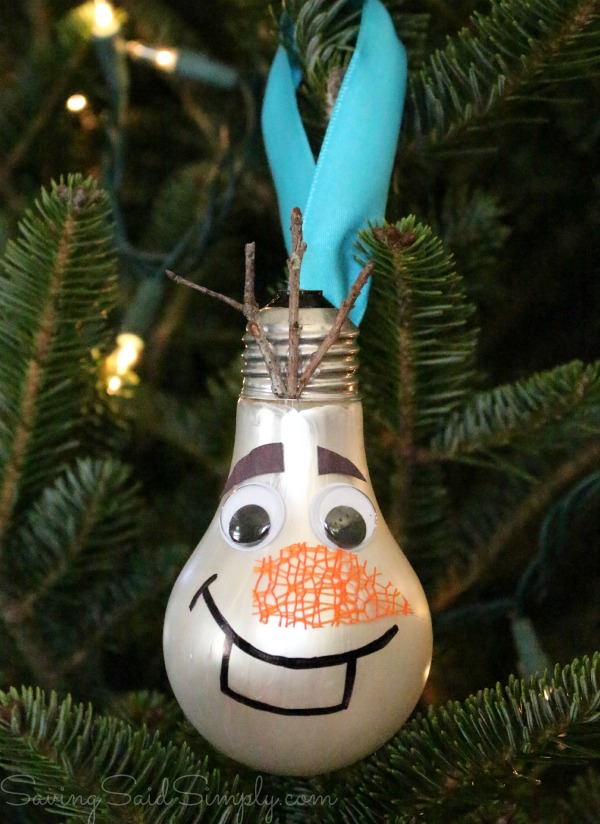 Olaf kids craft upcycle
