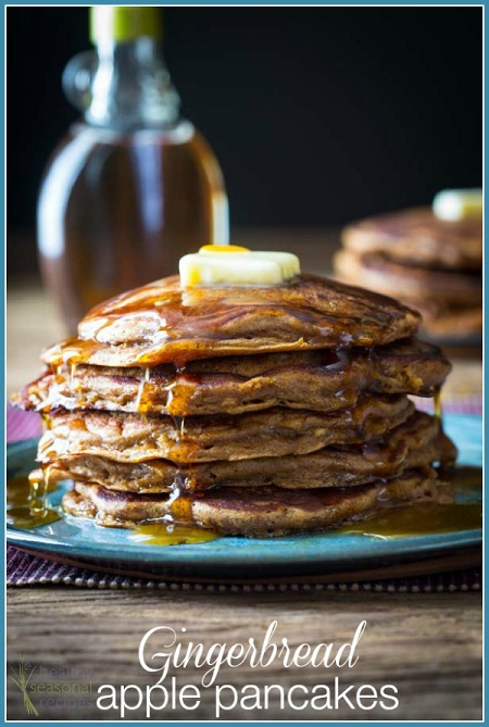 Gingerbread apple pancakes