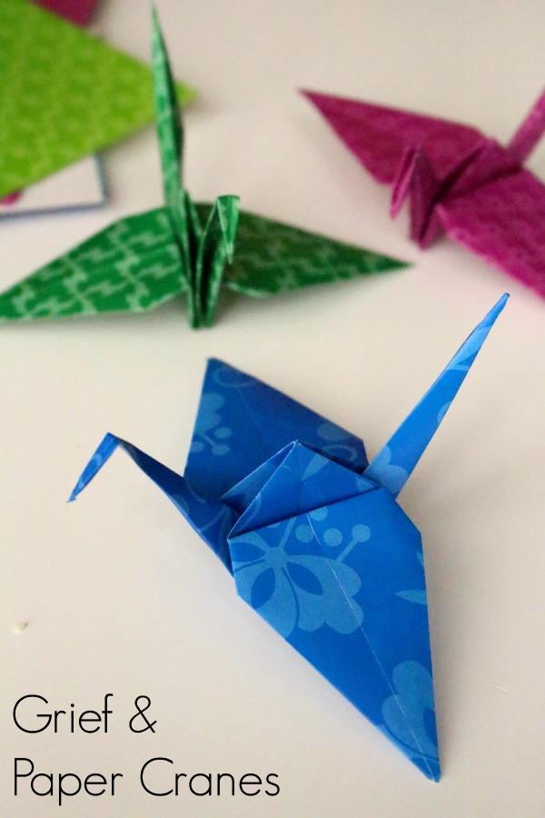 Grief paper cranes