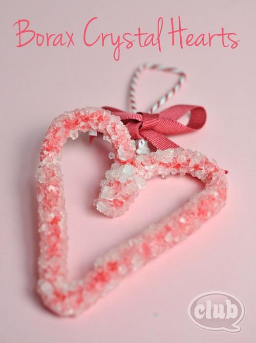 Borax crystal heart craft