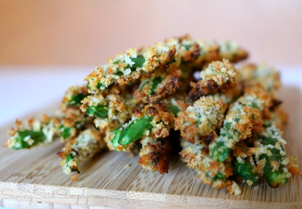Crispy bean greens Crispy baked green beans recipe perfect for an appetizer or for a great side dish for dinner. #Recipe #Appetizer