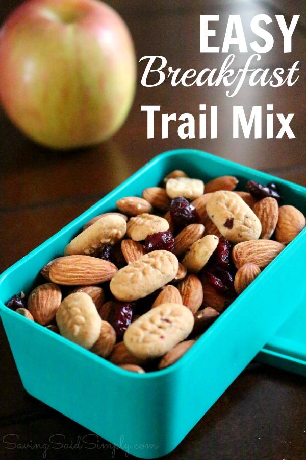 Easy Trail Mix Recipe with New belVita Bites #MorningWin
