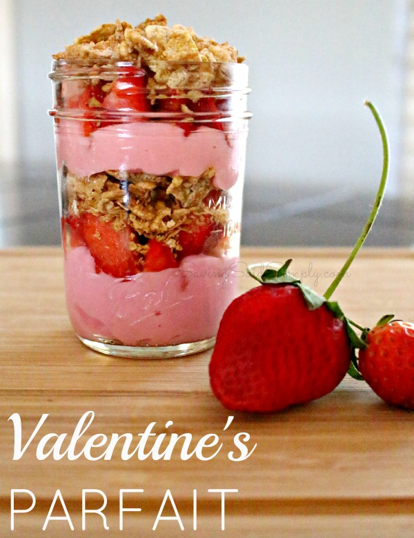 Easy valentines parfait recipe