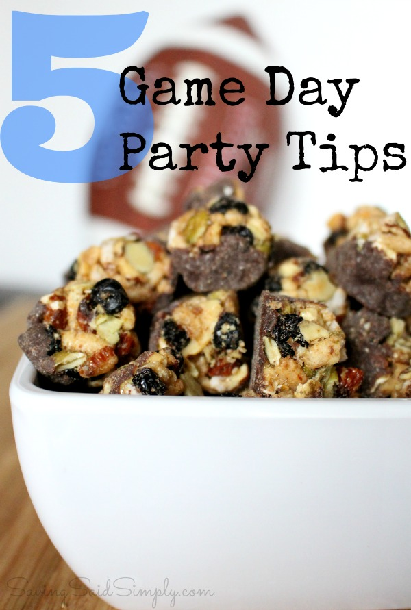 Game day party tips