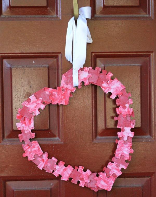 Valentines wreath craft