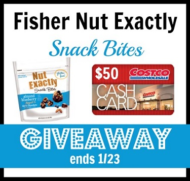 Fisher nut exactly almond blueberry giveaway
