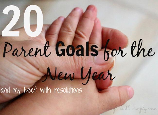 Parent goals new year