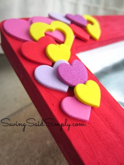 Valentines kids frame craft