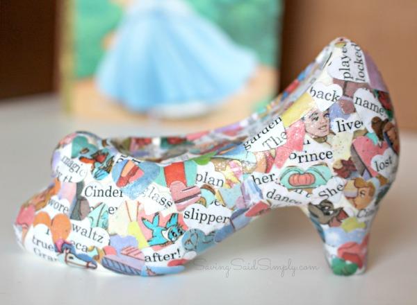 Cinderella glass slipper craft