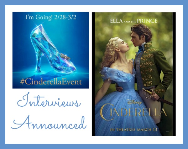 Cinderellaevent interviews announced