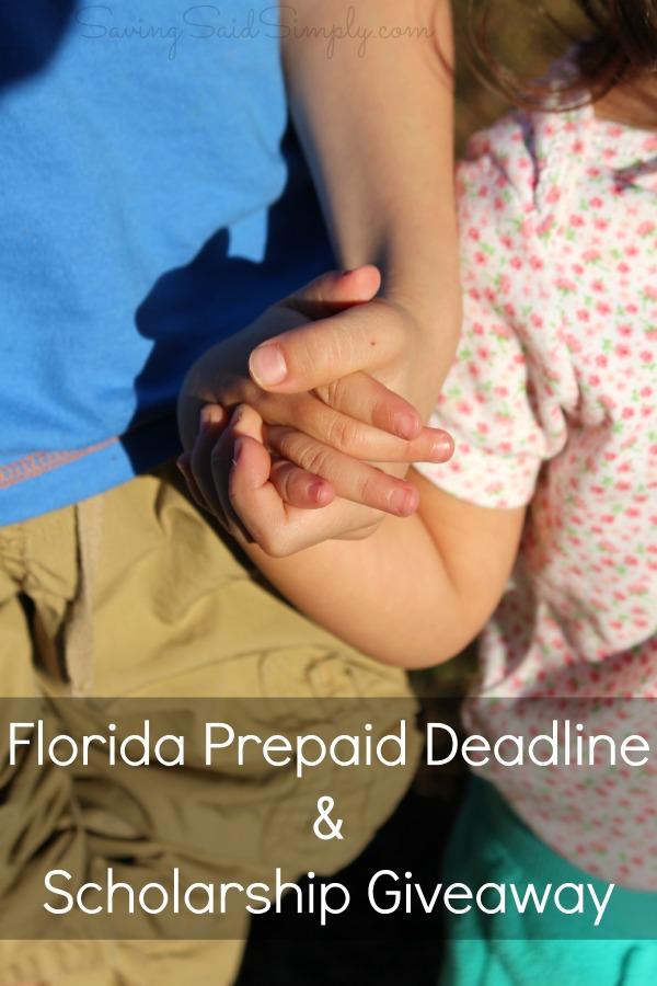 Florida prepaid deadline