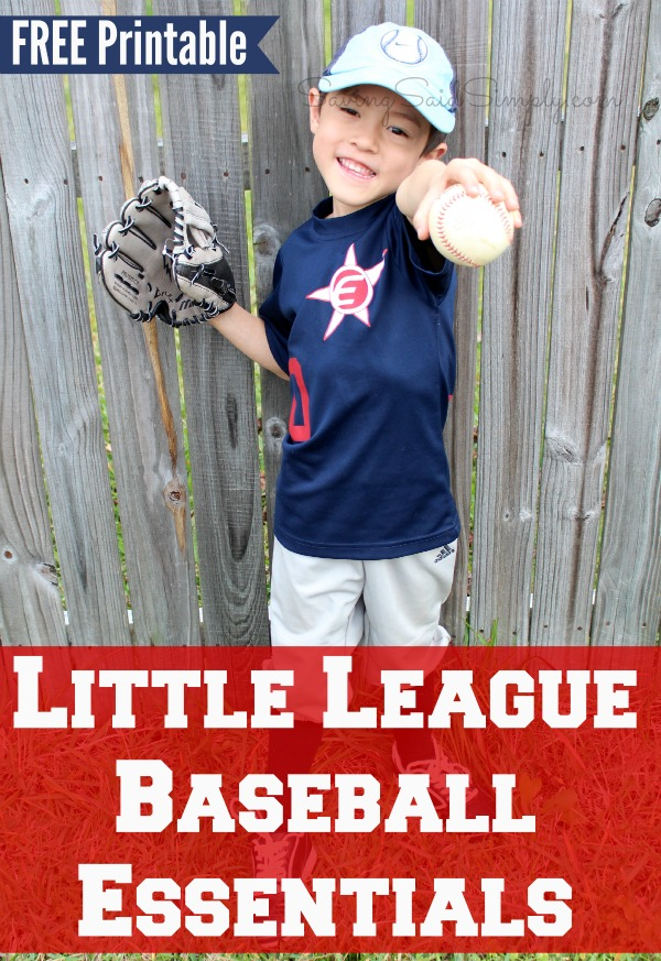 Little league baseball printable